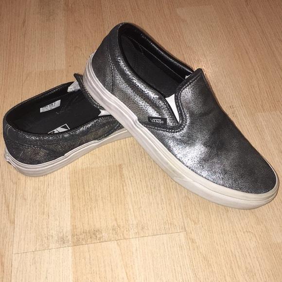 Vans Shoes   Shiny Vans Slipons   Poshmark